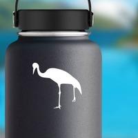 Crane Bird Sticker on a Water Bottle example