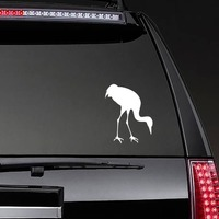 Crane Eating Sticker on a Rear Car Window example
