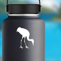 Crane Eating Sticker on a Water Bottle example