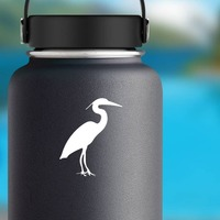 Crane Sticker on a Water Bottle example