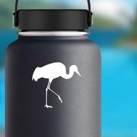 Crane Walking Sticker on a Water Bottle example