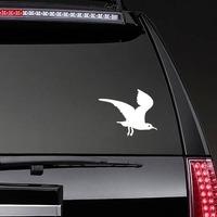 Creepy Flying Seagull Sticker on a Rear Car Window example