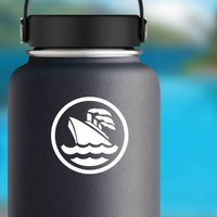 Cruise Ship Sticker on a Water Bottle example