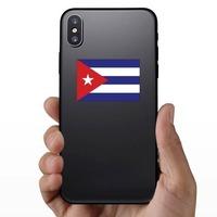 Cuba Flag Sticker on a Phone example