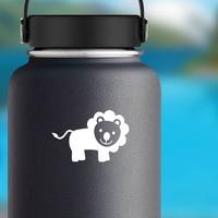 Cute Cartoon Lion Sticker on a Water Bottle example