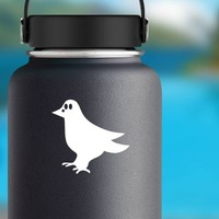Cute Crow Sticker on a Water Bottle example