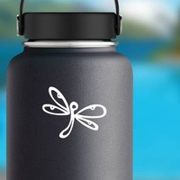 Cute Dragonfly Sticker on a Water Bottle example