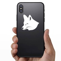 Cute Fox Face Sticker on a Phone example