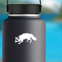 Cute Fox Sticker on a Water Bottle example
