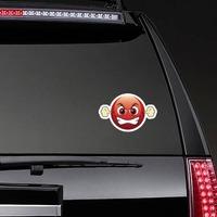 Cute Furious Emoji Sticker on a Rear Car Window example