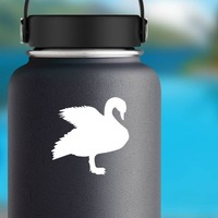 Cute Goose Sticker on a Water Bottle example