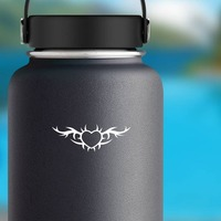 Cute Gothic Heart Border Sticker on a Water Bottle example