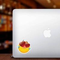 Cute Heartbroken Emoji Sticker on a Laptop example