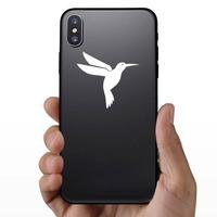 Cute Hummingbird Sticker on a Phone example