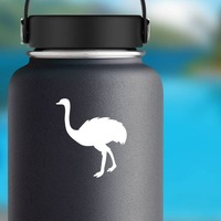 Cute Ostrich Sticker on a Water Bottle example