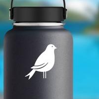 Cute Partridge Sticker on a Water Bottle example