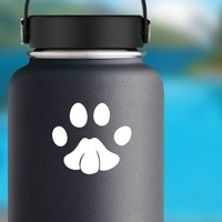 Cute Paw Print Sticker on a Water Bottle example