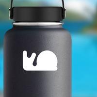 Cute Snail Sticker on a Water Bottle example