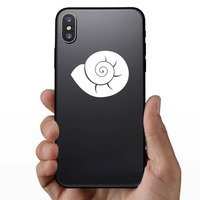 Delicate Seashell Sticker on a Phone example