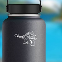 Detailed Ankylosaurus Dinosaur Sticker on a Water Bottle example