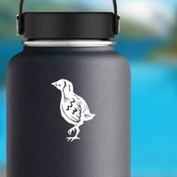 Detailed Baby Chick Chicken Sticker on a Water Bottle example