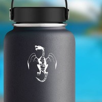 Detailed Dragon Flying Sticker on a Water Bottle example