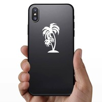 Detailed Palm Trees Sticker on a Phone example