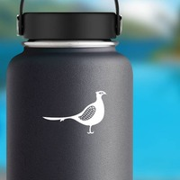 Detailed Pheasant Sticker on a Water Bottle example