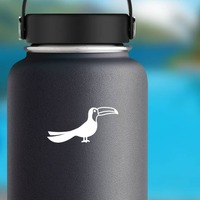 Detailed Toucan Sticker on a Water Bottle example