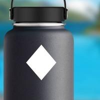 Diamond Shape Sticker on a Water Bottle example