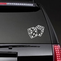 Dice Landing On Four And Six Sticker on a Rear Car Window example