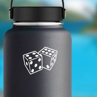 Dice Landing On Four And Six Sticker on a Water Bottle example