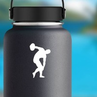 Discus Sticker on a Water Bottle example