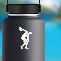 Discus Thrower Sticker on a Water Bottle example