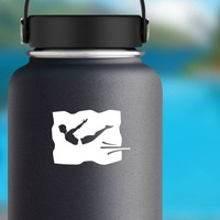 Diver Sticker on a Water Bottle example