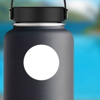 Dot Circle Shape Sticker on a Water Bottle example