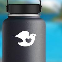 Dove Bird Sticker on a Water Bottle example