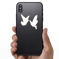 Dove Birds Sticker on a Phone example