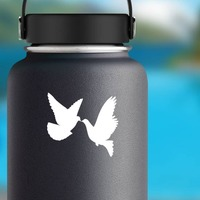 Dove Birds Sticker on a Water Bottle example
