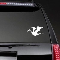 Dragon Flying Sticker on a Rear Car Window example