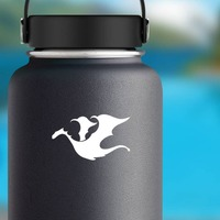 Dragon Flying Sticker on a Water Bottle example