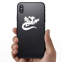Dragon Looking Up Sticker on a Phone example