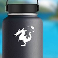Dragon Made Of Flames Sticker on a Water Bottle example
