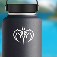 Dragon Tribal Design Sticker on a Water Bottle example