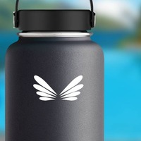 Drangonfly Wings Sticker on a Water Bottle example