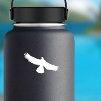 Eagle Bird Flying Sticker on a Water Bottle example