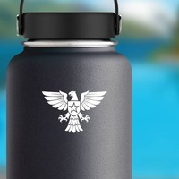 Eagle with Star And Shield Sticker on a Water Bottle example