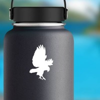Eagle Catching Pray Sticker on a Water Bottle example