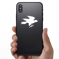 Eagle Hunting Sticker on a Phone example
