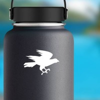 Eagle Hunting Sticker on a Water Bottle example